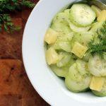 German Cucumber Salad With Pineapple – Gurkensalat