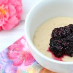 Marzipan Mug Cake with Mashed Berries
